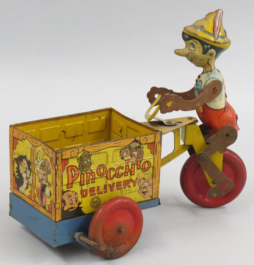 TIN WIND-UP TOY, PINOCCHIO DELIVERY - 2