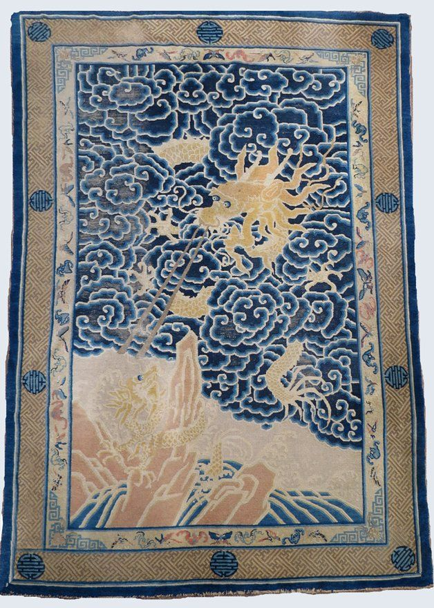 ANTIQUE CHINESE DRAGON RUG