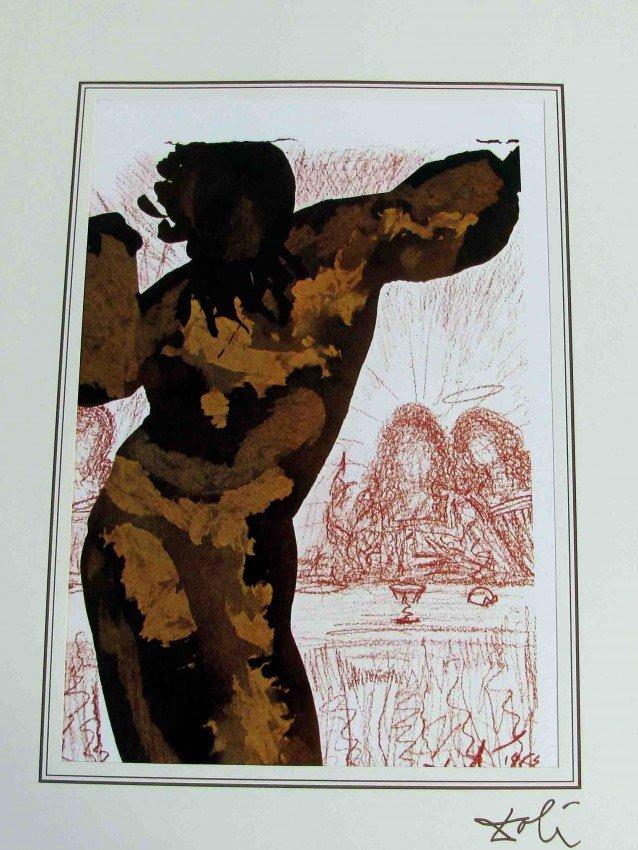 90992: One Salvador Dali Bible Lithograph Ars Mundi