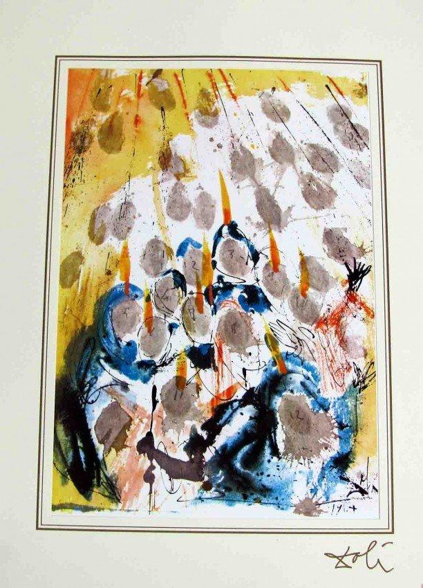 90991: One Salvador Dali Bible Lithograph of Ars Mundi