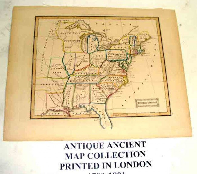 90988: Ancient map Collection of 5 Printed 1790-1801