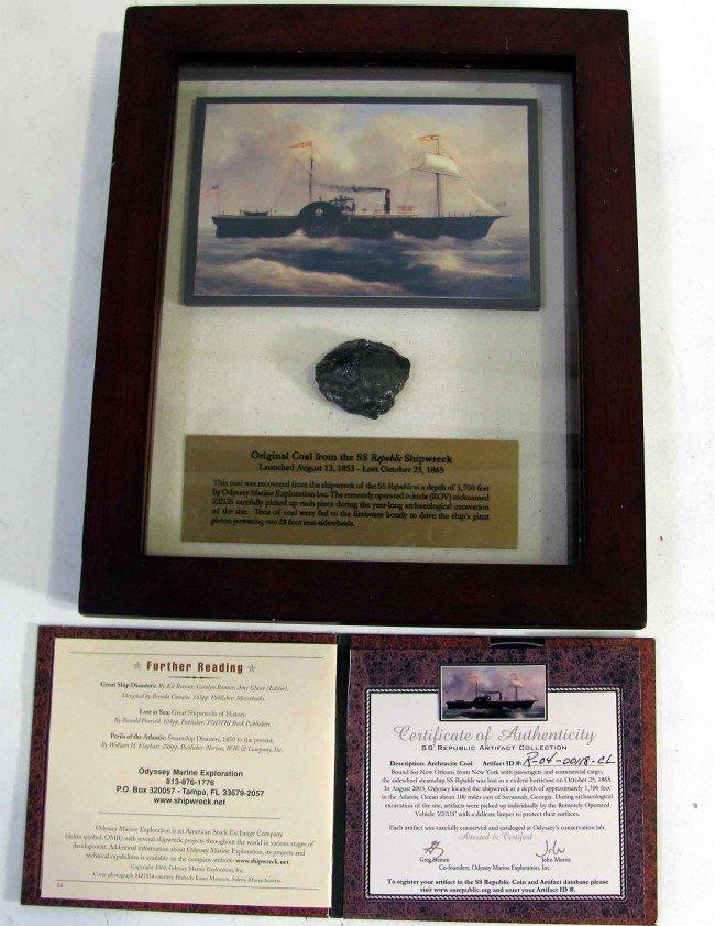 90986: Coal from SS Republic Shipwreck Oct 25 1865