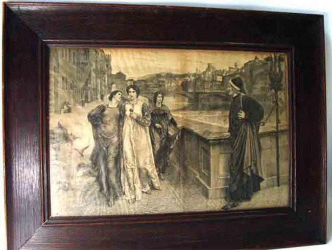 90180: Antique Etching Venice Scene Signed R Bon G K H