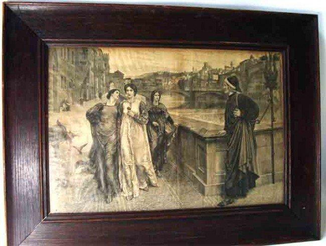 6: Antique Etching Venice Scene Signed R Bon G K H
