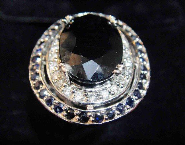 9.24ct. Blue Sapphire & 0.31ct. Diamond 14k overlay