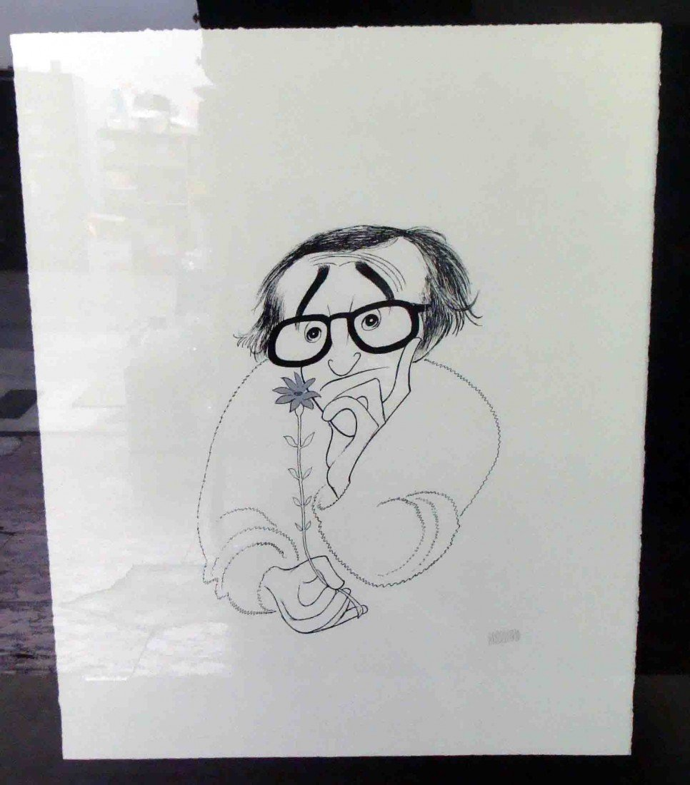 3: Al Hirschfeld Woody Allen - Silver Lithograph Signed