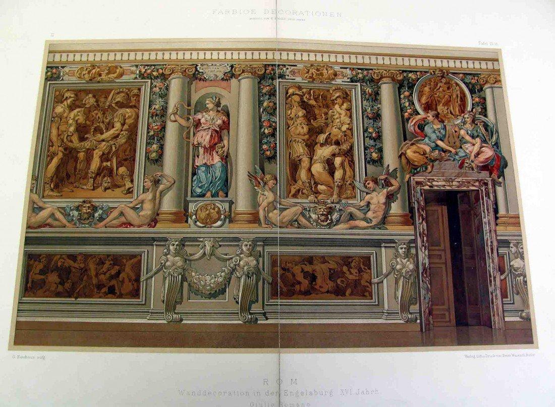 "5: FARBIGE DECORATIONEN 1700s Engraving ""ROM"