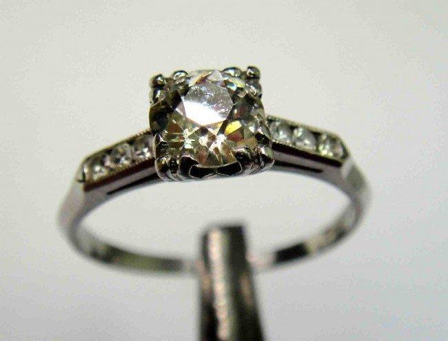 7: 0.95ct Diamond 18k White GOLD Lady's Ring