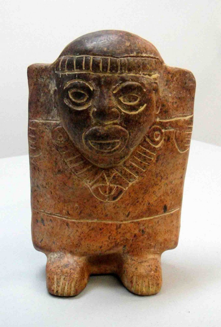 14: Pre-Columbian American Hand-made/Hand Carved Indian