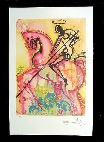 16: Salvador Dali - Saint George - Unframed Print