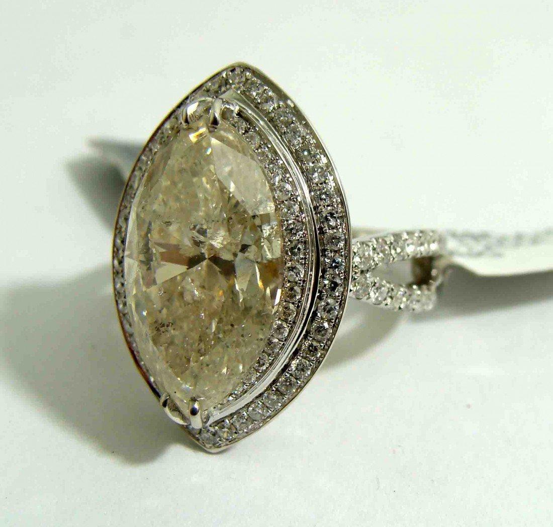 265: 7.39 Ct (8.51ctw) Marquis DIAMOND 18KT Gold Ring