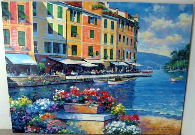 "1: Zaccheo Giclee ""Reflections of Portofino"" Signed"