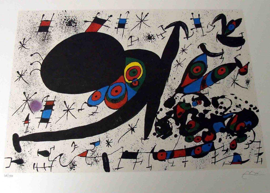 "Joan Miro ""Hommage to Joan Pratts"" Fascimile signed/num"