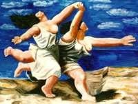 """3B: Pablo Picasso """"Running on the Beach"""""""