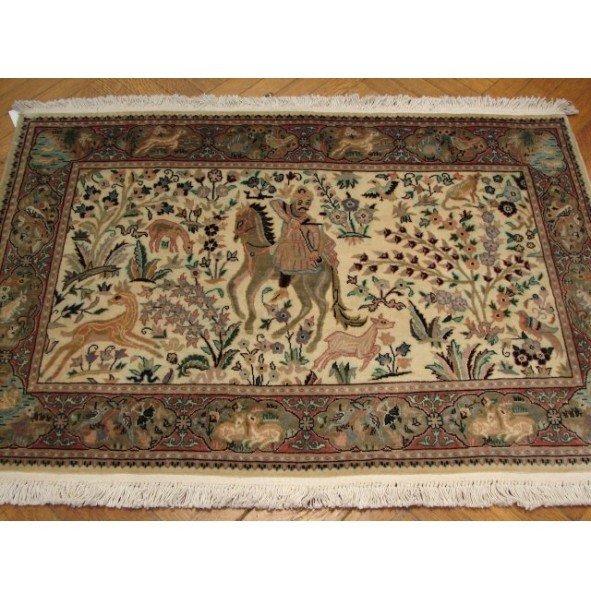 3C: Authentic Handmade Persian Tabriz High-End Silk&Woo