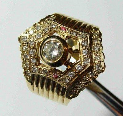 9: 0.70ct Diamond VVS Center Stone 14KT Gold Ring