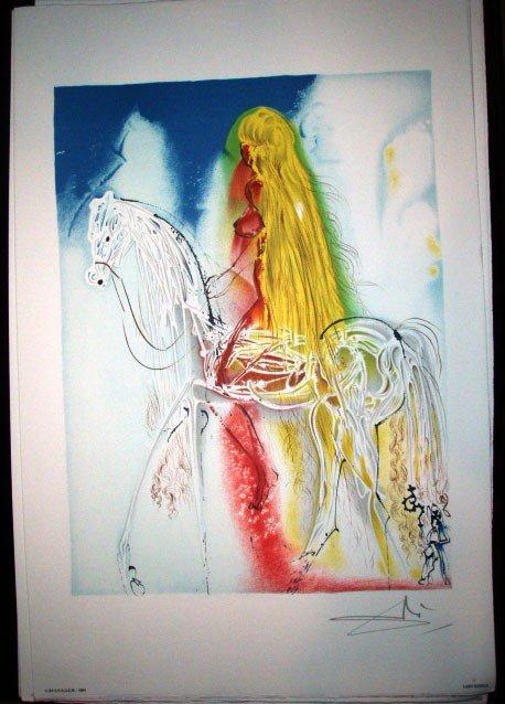 "16: Salvador Dali ""Lady Godiva"" Limited Edition Origina"
