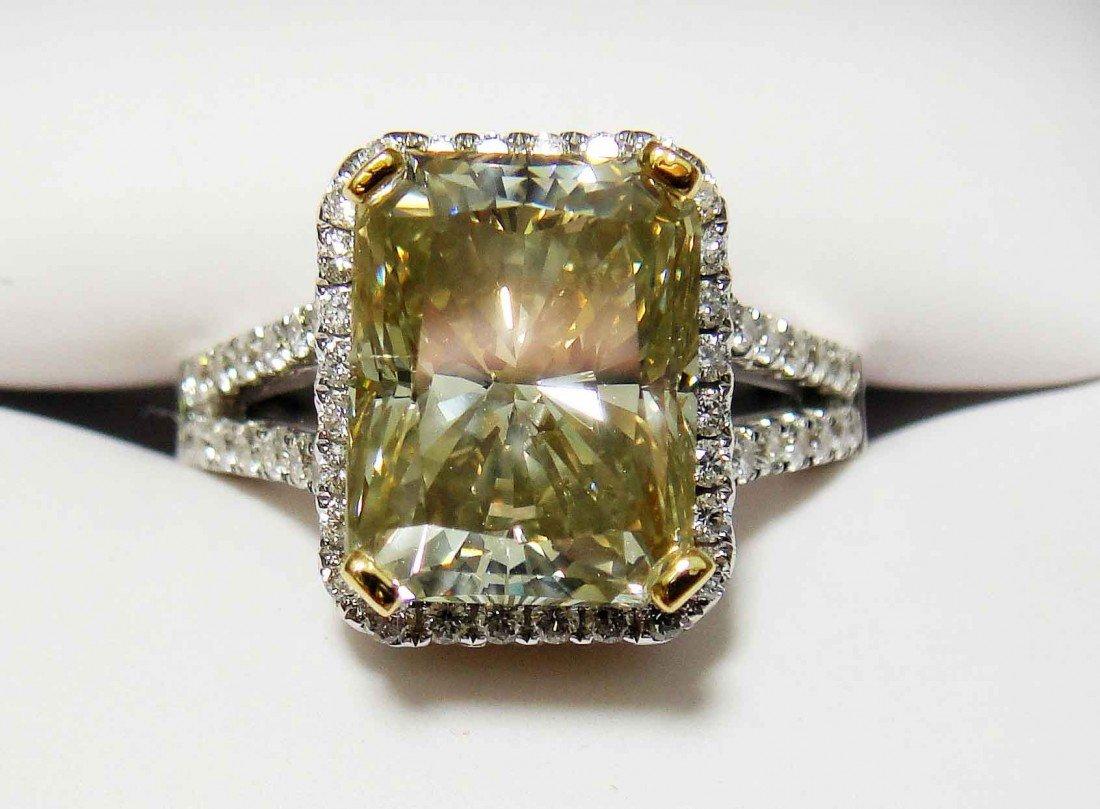 5.19ct CNTR Diamond (5.19CTW) on 18KT/22KT Gold Ring