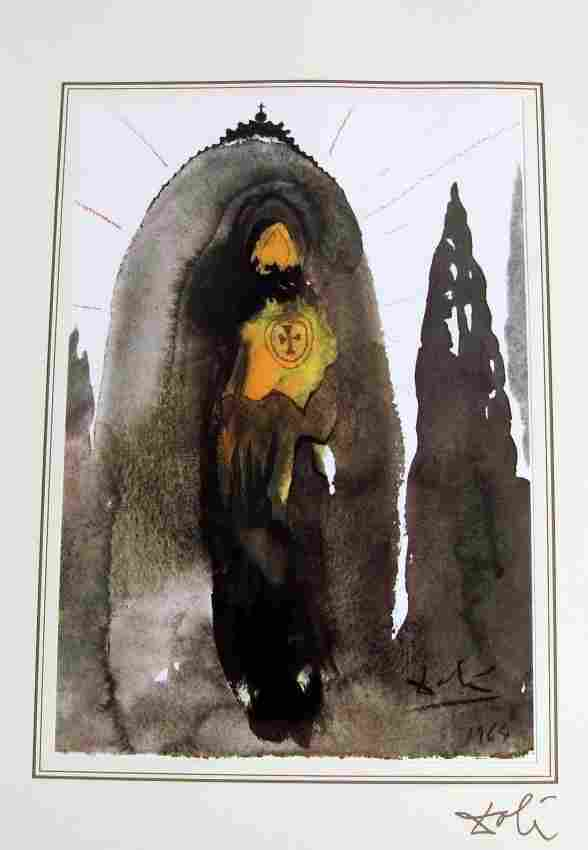 164D: Salvador Dali Bible Lithograph Ars Mundi 1964