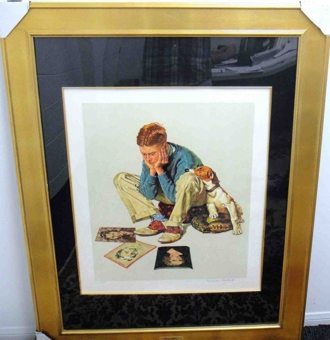 3B:  Hand Signed Norman Rockwell Starstruck Lithograph