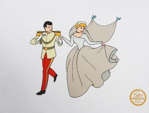"1B: Walt Disney ""Cinderella"" Sericels w/ Photomechanica"