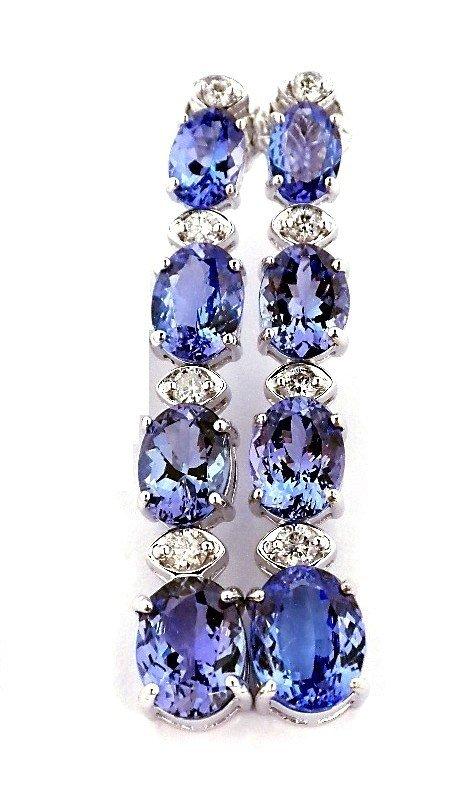 9.31ct Tanzanite & .45ct Diam 14KT White Gold Earrings