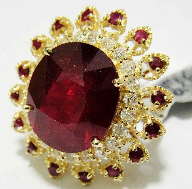 3C: 17.09ct Ruby & 0.88ct Diamond on 14KT Yellow Gold R