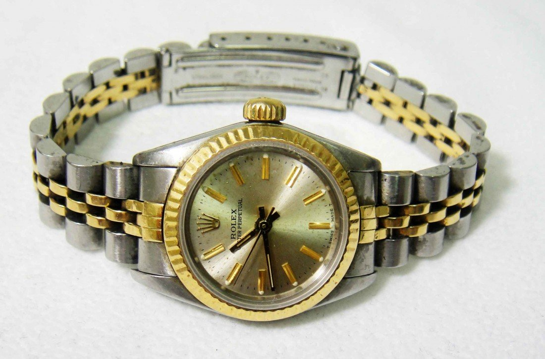 Ladies ROLEX 14KT Two-Tone Oyster Perpetual Watch