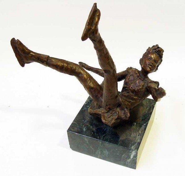 "3: ""Falling"" Bronze Sculpture by Dennis Smith"
