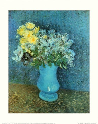 """""""Vase of Lilacs, Daisies and Anemones"""" Van Gogh Giclee"""