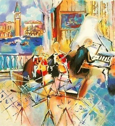 "Michael Rozenvain ""Venetian Melody"" Limited Serigraph"