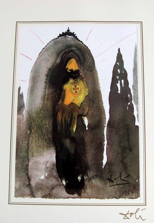 174B: Salvador Dali Bible Lithograph Ars Mundi 1964