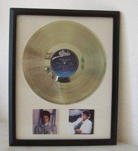 Michael Jackson Thriller 24kt Plated LP Record