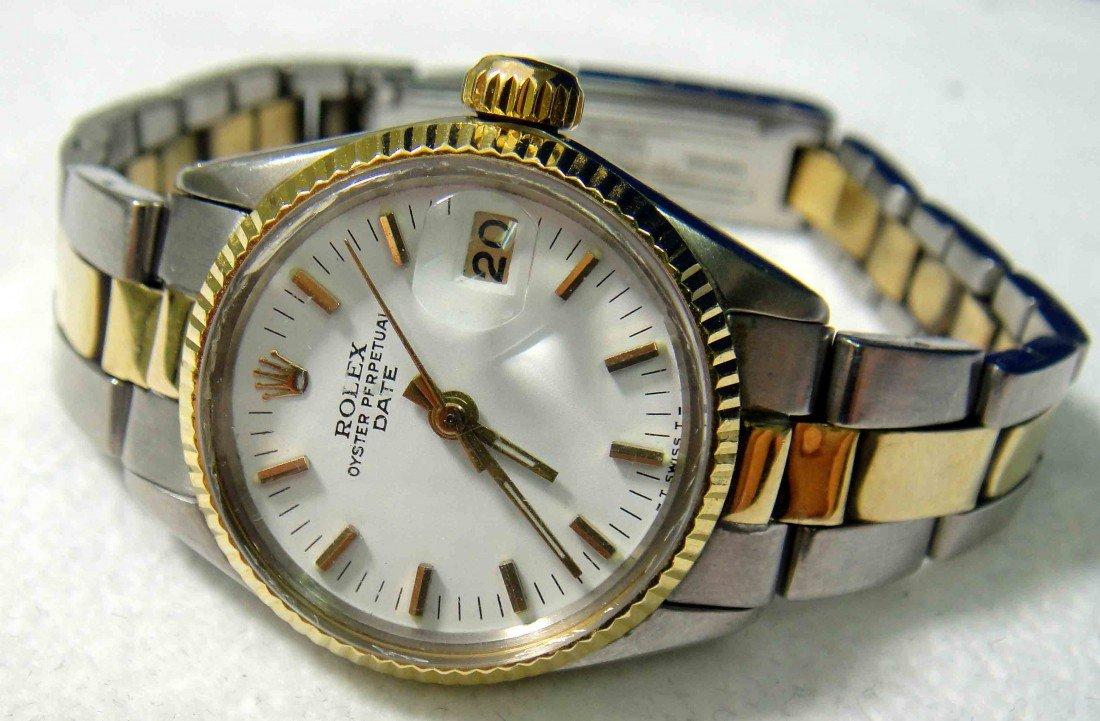 ROLEX Ladies Two-Tone Date Model Wristwatch APP: $6K