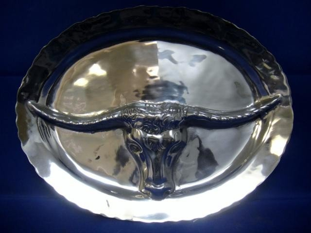 9A: WESTERN PLATE WITH EMBOSSED BULL