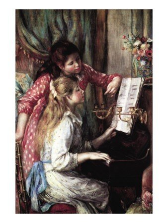 """7: Pierre Renoir """"Two Young Girls at the Piano """""""