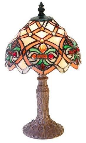 13A: iffany 1 Light Arielle Tiffany Accent Lamp Bronze