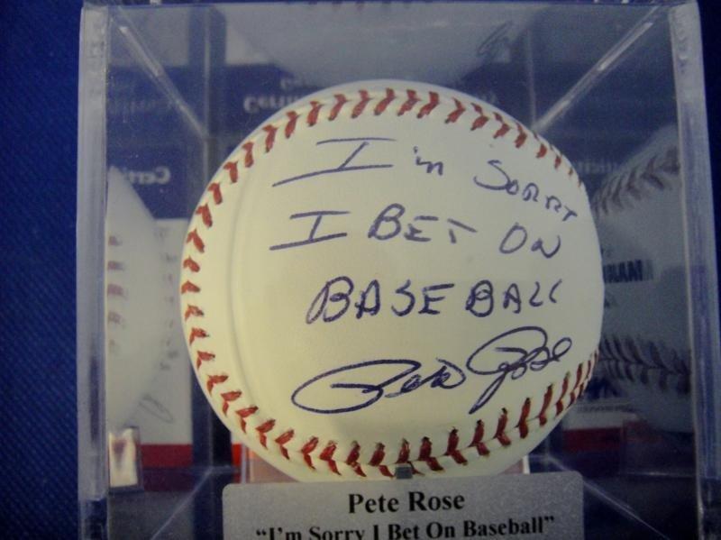"1: SIGNED BY PETE ROSE ""I'M SORRY I BET ON BASEBALL"" BA"