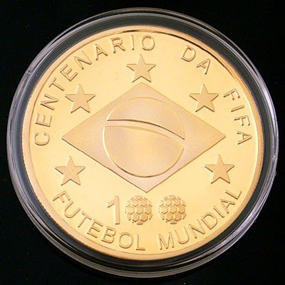 3A: FIFA 100 Anniversary Gold-Plated Commemorative Coin