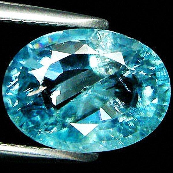 3C: 5.22ct Oval Cut Light Blue Paraiba Zircon