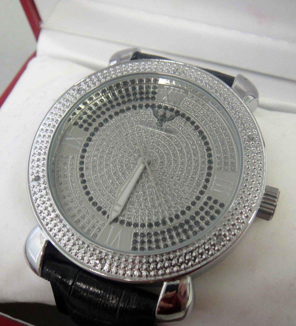 1D: New Diamond King Time Mens Diamond Bezel Watch