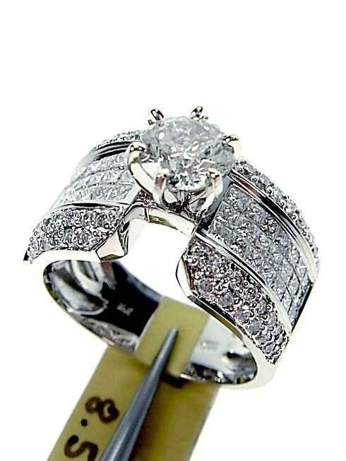 3.06ctw Diamond Ladies Ring set on 14KT White Gold