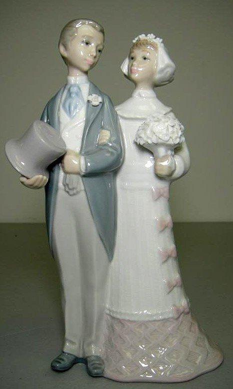 61W LLadro 4808 Wedding Bride Groom Cake Topper