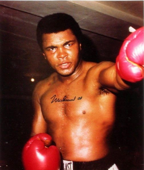 4B: Authentic Signed Certified Mohammad Ali Sports Mem