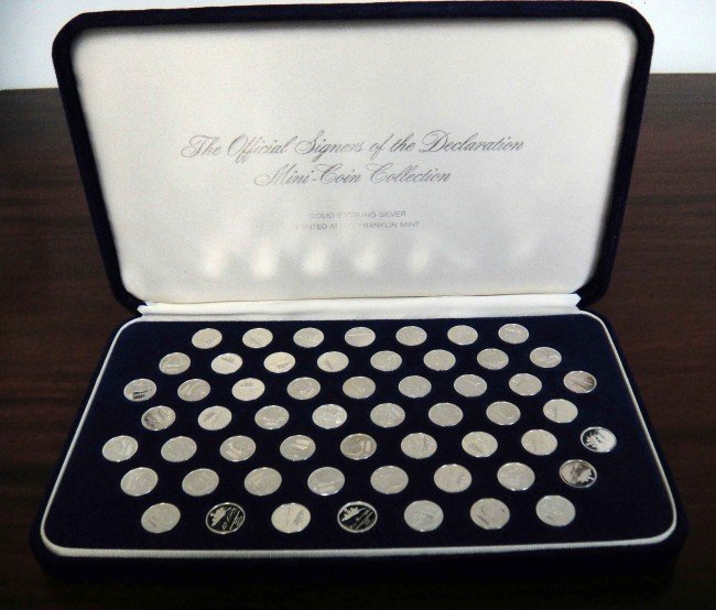 10: 1976 Signers of Declaration 56 Coin Set Solid Sterl