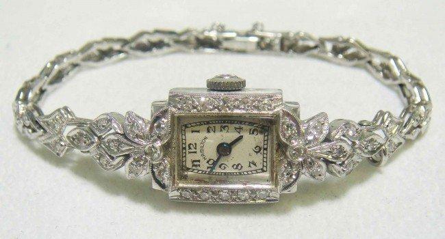 2: Platinum & 14KT White Gold ladies Diamond Wristwatch