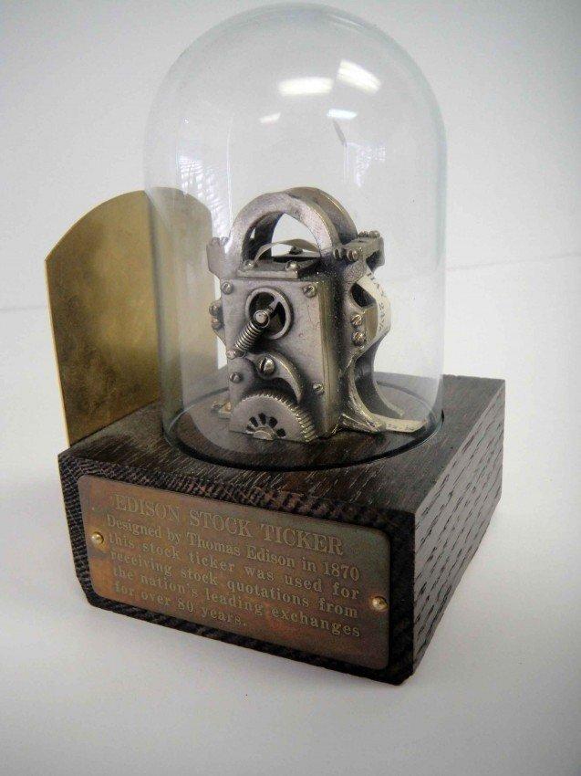 2A: Antique Thomas Edison Designed 1870's Stock Ticker