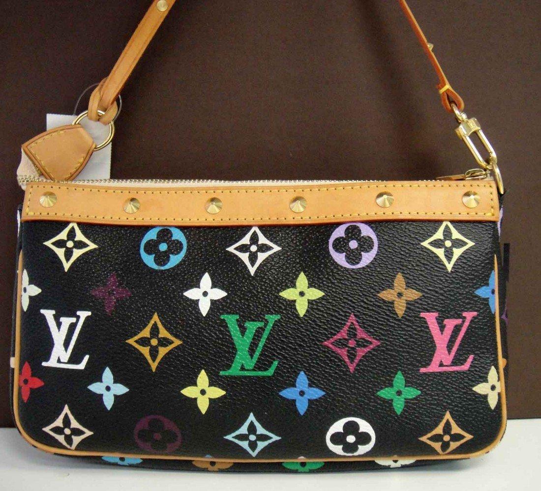 Genuine Louis Vuitton Colored Monogram Handbag Purse