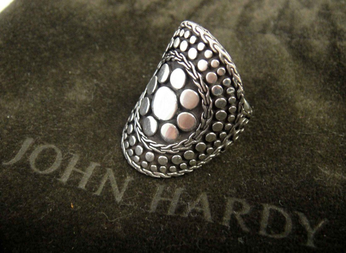 Genuine John Hardy Hammered Sterling Silver Ring