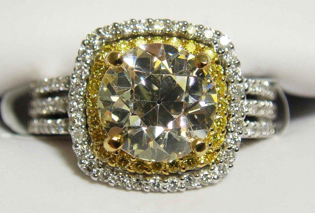 2.61ct (2.01CT CNTR EGL) Diamond 22KT & 18KT Gold Ring